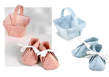 Fabric Origami Baby Booties
