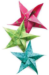 Fabric origami projects fabric origami stars mightylinksfo
