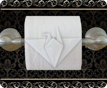 toilet paper bird