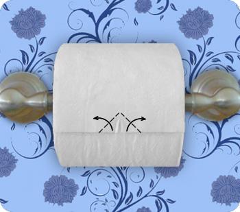 toilet paper heart