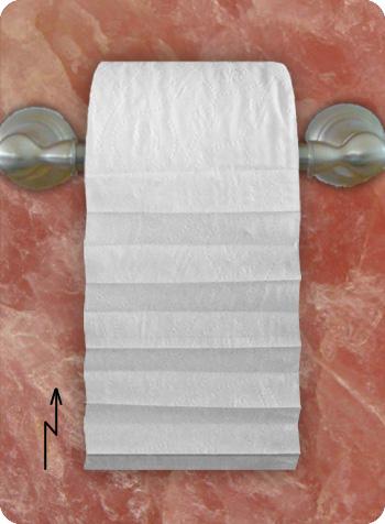 toilet paper pleat