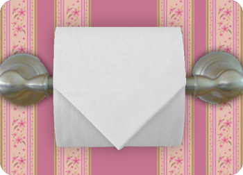toilet paper origami fold