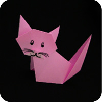 How To Make An Easy Origami Cat Face - Folding Instructions ... | 200x200