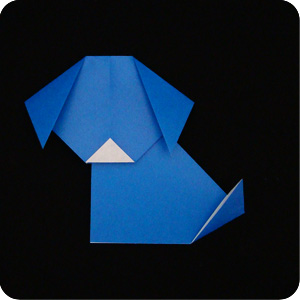 Dog(face) | Origami instructions for kids, Easy origami animals ... | 300x300