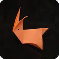 easy origami easter bunny rabbit