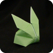 blow up origami Origami Blow-Up Bunny rabbit