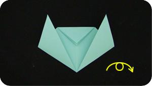 paper origami cat