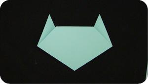 paper origami cat head