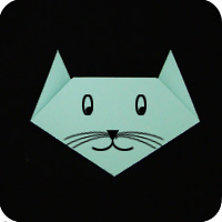Easy Origami cat
