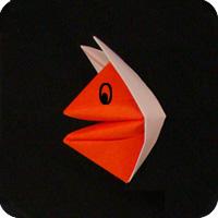 origami fox puppet