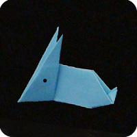 traditional origami bunny rabbit