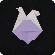 origami paper Egg Laying Chicken