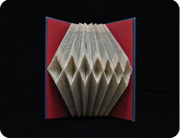 folded altered book