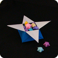 How to make a closed origami star box: page 12 | 200x200