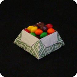 origami star box variation