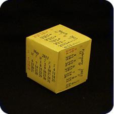 cube origami calendar