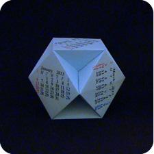 Cuboctahedron origami calendar