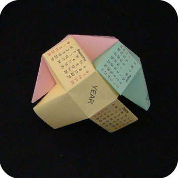 origami calendar