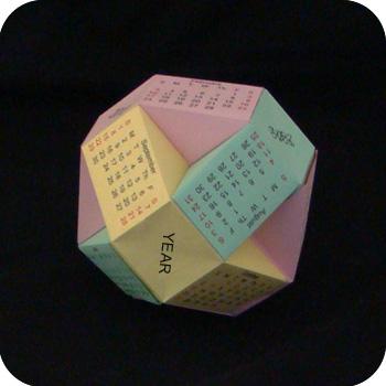 paper origami multi-ball calendar