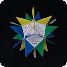 Spike origami calendar