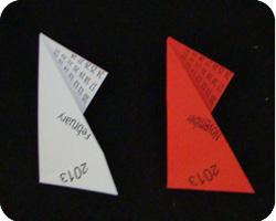 paper origami star calendar Carmen Sprung