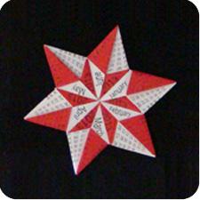 star  origami calendar