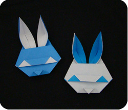 Easter-craft idea-How to fold an Origami Bunny Head | Origami ... | 216x250