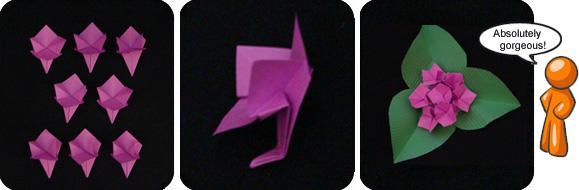 origami hydrandea