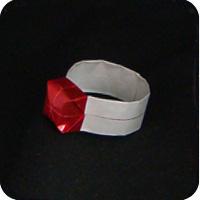 origami  gem ring