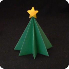 Origami Christmas Tree Easy - Christmas | 275x275