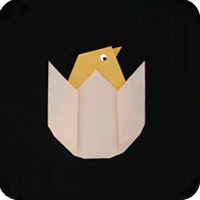 origami chick chicken egg