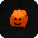 easy Origami Waterbomb Pumpkin