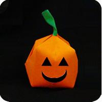 DIY paper origami pumpkin