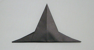 paper origami witch hat
