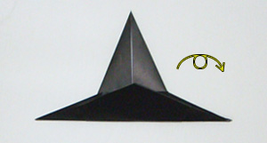 This page is for those who want the instruction to fold an origami witch's hat. This origami witch's hat is a simple model. There is no special folding technique involved. with this one. If you are ready, then let's get started. If you find any bugs on this instruction, please send an email to.
