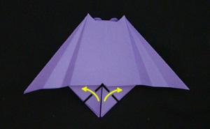 paper origami vampire bat