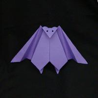 DIY paper origami bat