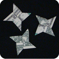money 4-pointed star