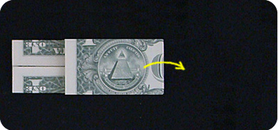 dollar bill origami money box with handle