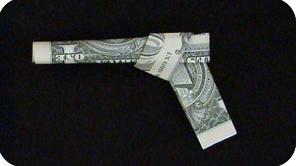 Dollar Bill Origami Money Gun