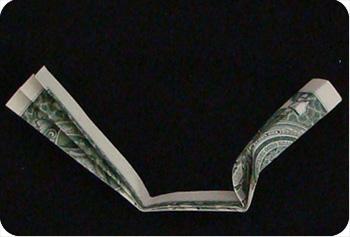 money origami cross