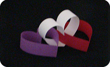 paper chain hearts